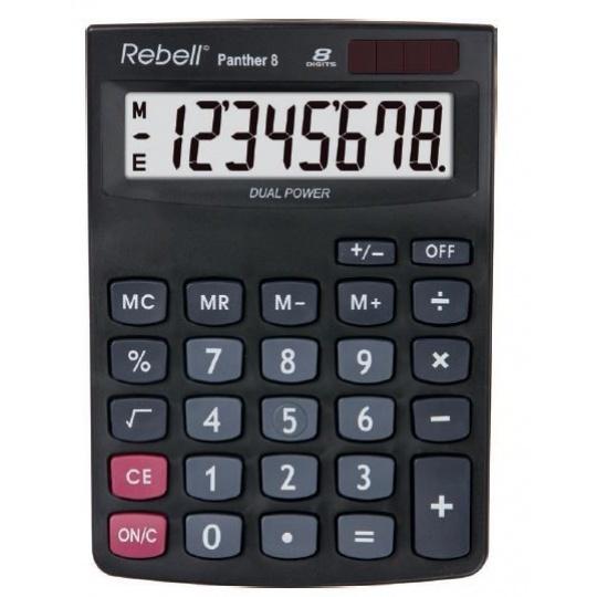 REBELL kalkulačka - Panther 8 - černá
