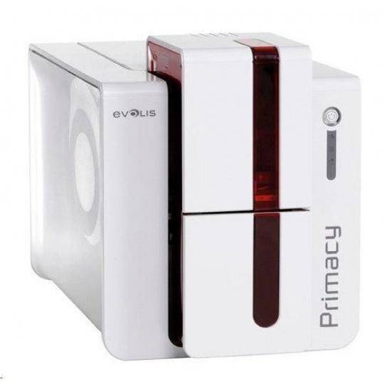 Evolis Primacy tiskárna karet, single sided, 12 dots/mm (300 dpi), USB, Ethernet, red