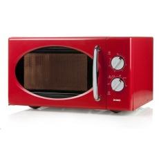 DOMO DO2925 Mikrovlnná trouba retro červená, man.25l, 800W