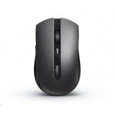 RAPOO myš 7200M Multi-mode bezdrátová, šedá