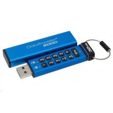Kingston 32GB USB 3.0 DataTraveler 2000 s klávesnicí a 256bitovým šifrováním