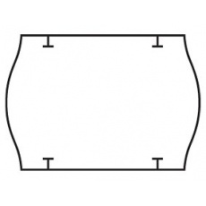 cenovkové etikety 26x18 STAR PRIX - biele (pre etiketovacie kliešte) 1.000 ks/rol.