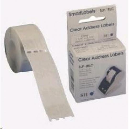 Seiko adresní štítky - transparentní, 28x89mm 130ks/role