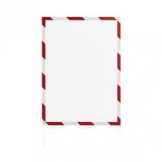 Magnetický rámeček Magnetofix A4 bezpečnostní červeno-bílý (5ks)