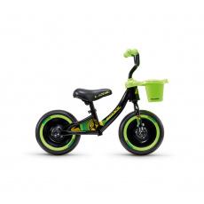 S'COOL Detské odrážadlo pedeX 3in1 čierno/zelené