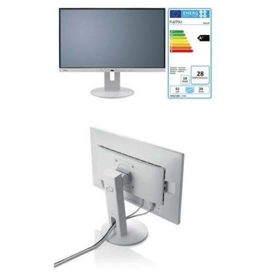 """FUJITSU LCD P24-9 TE FHD IPS 23.8"""" matný, 1920x1080 250cd 5ms DP HDMI, DSUB repro 2x2W 4xUSB USB-C V10x10 PIVOT bílý"""