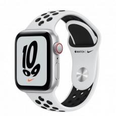 APPLE Watch Nike SE GPS + Cellular, 40mm Silver Alum. Case with Pure Platinum/Black Nike Sport Band - Regular