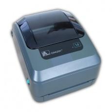 Tlačiareň etikiet Zebra GX420t, termotransferová tlač, 203 dpi, USB, RS232, LAN, kabeláž