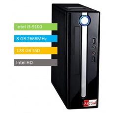ABCOM KI3010, mini  i3-9100, 8GB RAM, 128 GB SSD