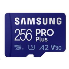 Samsung micro SDXC karta 256GB PRO Plus + SD adaptér