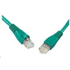 Solarix Patch kabel CAT6 UTP PVC 0,5m zelený snag-proof C6-114GR-0,5MB