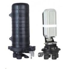 XtendLan Spojka, optická, vodotěsná, zemní/zeď/stožár, 48 vláken 4x6, 4 prostupy, matice, 415x206mm
