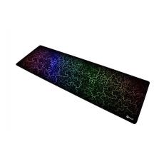 C-TECH Herní podložka pod myš ANTHEA ARC XL, barevná, pro gaming, 900x270x4mm, obšité okraje