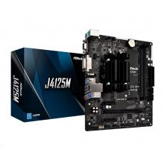 ASRock MB J4125M, Intel J4125, 2xDDR4, 1xHDMI, 1xDVI, 1xVGA, mATX