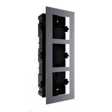 HIKVISION DS-KD-ACF3, rámeček pro modulární interkom, pro 3 moduly, zápustná montáž