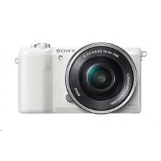 SONY Alfa 5100 fotoaparát, 24.3 MPix - tělo + 16-50mm objektiv - bílé