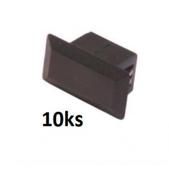 OEM Záslepka plastová do optické vany SC - simplex, 10ks, černá