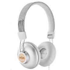 MARLEY Positive Vibration 2.0 - Silver, sluchátka přes hlavu s ovladačem a mikrofonem