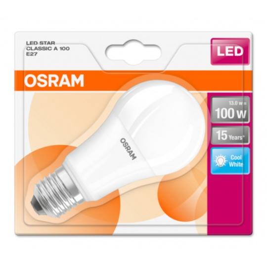 OSRAM LED STAR CL A Fros. 13W 840 E27 1521lm 4000K (CRI 80) 15000h A+ (Krabička 1ks)