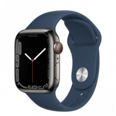 Apple Watch Series 7 Cell, 41mm Graphite/Steel Case/A.Blue SportBand