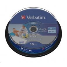 VERBATIM BD-R SL Datalife (10-pack)Blu-Ray/Spindle/6x/25GB Wide Printable