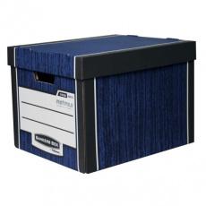 Archivační kontejner Fellowes Bankers Box Woodgrain modrá (2ks)
