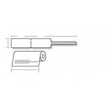 OEM samolepiace etikety 20mm x 10mm, zlatnícke biele, cena za 2000 ks