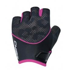 Chiba Cyklistické rukavice pre ženy Lady Gel čierne/ružové